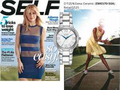 Citizen gorgeous Ciena Ceramic watch showcased in @SELF Magazine March 2014 Issue!