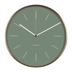 Karlsson Minimal copper and green wall clock - Clocks - Home & Kitchen - Gifts & Home