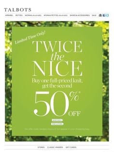 TALBOTS | Email Marketing by Whitney Holland, via Behance @Jenille Reese Reese Reese Boston