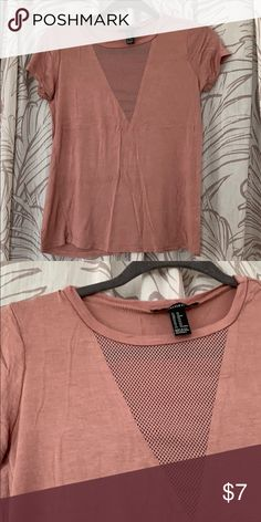 reputable site 0c9fd 58ea9 F21 mesh front tee Worn once. Mesh detail front. Lightweight Forever 21  Tops Tees
