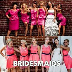 BRIDESMAIDS movie cover picture for wedding!