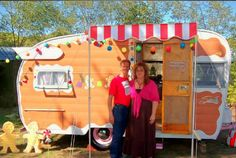 bright and cheery vintage caravan