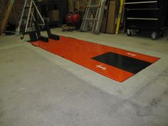 anyone recessed their motorcycle lift in the garage floor? - ADVrider anyone recessed their motorcycle lift in the garage floor? Garage Lift, Garage Shed, Garage House, Garage Workshop, Dream Garage, Garage Plans, Motorcycle Lift Table, Bike Lift, Motorcycle Workshop