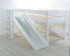 Детская ручной работы. Ярмарка Мастеров - ручная работа. Купить Кровать чердак  с горкой высота 120 см. Handmade. Белый
