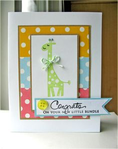 yikes, this is an adorable baby card!