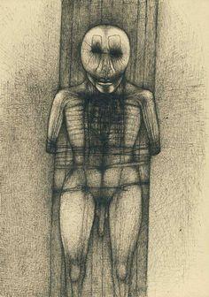 Zdzisław Beksiński, year:1967, technique: drawing ink ;dimensions: 22 x 31,5 cm