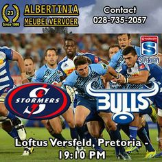 Old rivals playing today! It's the Vodacom Bulls VS DHL Stormers playing at Loftus Versfeld, Pretoria - 19:10PM! Who do you think will reign victorious from this battle? #supergees #bluebulls #stormers