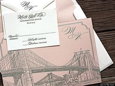 Adorable little freehand illustrations will adorn invitations everywhere this year.   #EisemanBridal #WeddingTrends