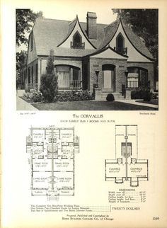 the dauphin home builders catalog plans of all types of small homes by home builders catalog co published 1928 homes pinterest catalog - Vintage Storybook House Plans