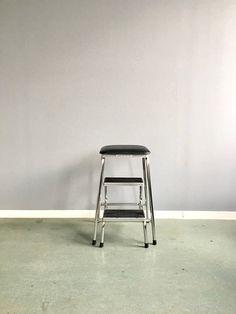 Vintage Trittleiter Mid Century Klettermax Hocker 50er Vintage Ladder, Folding Stool, Kitchen Chairs, Bar Stools, Household, Loft, Mid Century, Interior, Home Decor