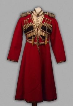 Cossack Uniform worn by Tsarevich Aleksey Nikolayevich 1910s The... - OMG that dress!