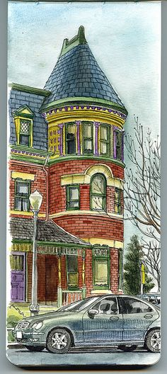 sketching in benedict historic district by paul heaston, via Flickr