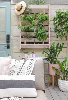 Vertical Garden makeover + DIY Herb Markers | I Spy DIY | Bloglovin'
