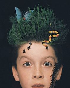 One day when I have kids, I'm totally doing this to them for crazy hair day at school!