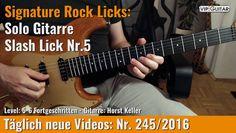 ✪ Signature Rock Licks ►Solo Gitarre - Slash Lick Nr.5