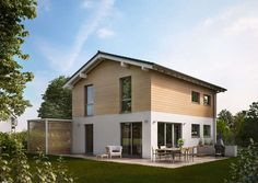 Neues Mitglied in der Kern-Haus-Familie: das Satteldachhaus Cara mit Holzfassade, flacher Dachneigung und 121 Quadratmetern Wohnfläche. Und wie gefällt es?  http://www.kern-haus.de/news/artikel/satteldachhaus-cara-zeitlos-und-modern-zugleich/