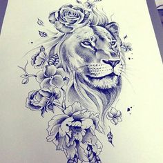 Masculine, yet feminine too! Would make a great shoulder tattoo!