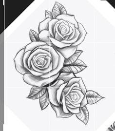 Rose Vine Tattoos, Rose Heart Tattoo, Flower Thigh Tattoos, Flower Tattoo Shoulder, Tattoo Outline Drawing, Rose Drawing Tattoo, Flower Tattoo Drawings, Small Tattoo Designs, Tattoo Sleeve Designs