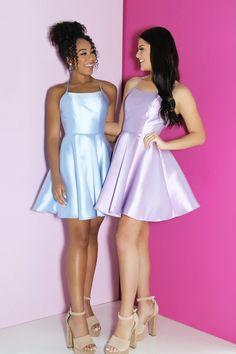 Sherri Hill Dress 53993 – Terry Costa Long Sleeve Homecoming Dresses, Sherri Hill Homecoming Dresses, Hoco Dresses, A Line Skirts, Pageant, Strapless Dress, Spaghetti Straps, Costa, Satin