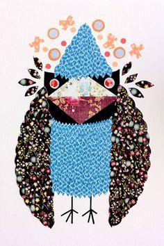 Bird Series N21 by KupKupLand on Etsy, €40.00