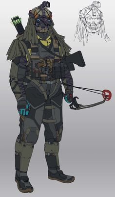 The Gorgon an infiltration and disruption unit that utilizes acoustics as a weapon. It is equipped with an infrasound emitter as well as a gas grenade launcher. The Gorgon also has counter measures via. static smoke that can disrupt electronics.