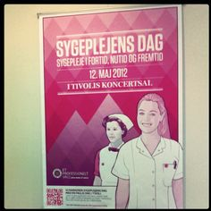 Promotional poster I made for a nursing conference that is going to be held in Tivoli, Copenhagen