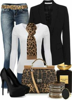 Animal print everything but the jacket and scarf