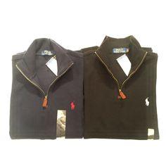 Best polo sweater, New POLO RALPH LAUREN MEN'S FRENCH RIB HALF ZIP SWEATER PULLOVER BLACK NAVY BLUE Polo Sweater, Cotton Sweater, Pullover Sweaters, Black And Navy, Navy Blue, Half Zip Sweaters, Polo Ralph Lauren, French, Sweatshirts