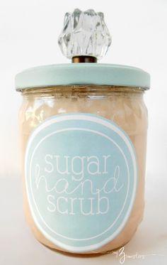 DIY Sugar Scrub: white sugar and Dawn rejuvenating dish soap! Easy.