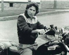 A very young Richard Gere on his Triumph.
