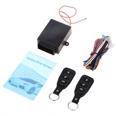 Free Shipping Universal Car Auto Remote Central Kit Door Lock Locking Vehicle Keyless Entry System New With Remote Controllers ** Click the VISIT button to view the details