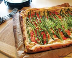 Asparagus Tart with Cashew Ricotta
