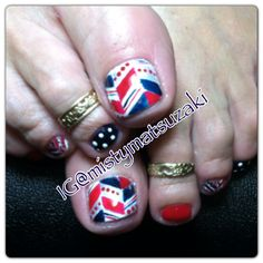 4th of July nail art shellac nail art red white blue a d silver by misty