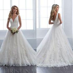 Christina Wu 15653 – Kleidung - Makeup Tips Summer Poofy Wedding Dress, Country Wedding Dresses, Dream Wedding Dresses, Bridal Dresses, Wedding Gowns, Bridesmaid Dresses, Modest Wedding, Lace Wedding, Mermaid Dresses