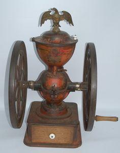 Antique Coffee Mill Grinder #coffee, #drinks, #pinsland, https://apps.facebook.com/yangutu