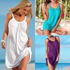 Women's Summer Casual Sleeveless Evening Party Beach Dress Short Mini Dress New
