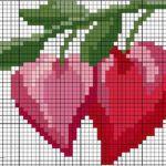 60+ Kalp Desenli Kanaviçe (Etamin) Örnekleri