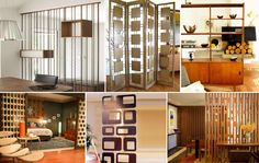 The various functions of Mid Century Modern screens. A selection interior screen applications.