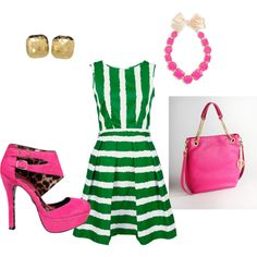 Green & Pink, created by straberyshort17