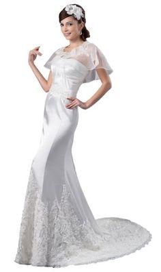 ImPrincess ip4-5563-i16 Wedding Dress Gorgeous Style Dipped Strapless Back Zip Delicate Beading Lace Applique Set Long Court Sheath Ivory ImPrincess http://www.amazon.com/dp/B00II7S1MQ/ref=cm_sw_r_pi_dp_VMR2tb0YAK1JFT72
