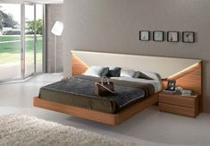 Lacquered Made in Spain Wood Luxury Platform Bed with Storage Options San Francisco California [GC503] : Prime Classic Design Inc., Italian modern furniture: luxury designer furniture and Italian leather sectionals, dining room and bedroom sets distributor