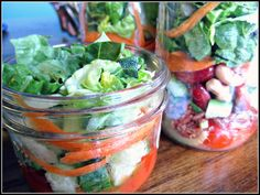 ready for lunch  - salad in a jar