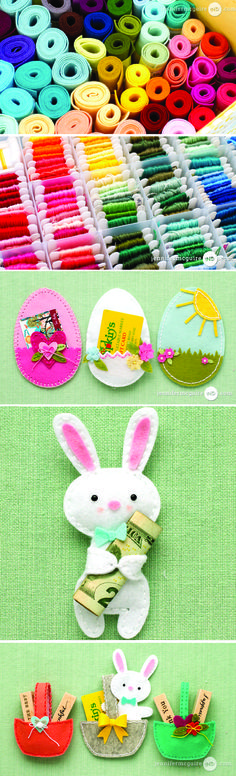 Looking for a fun, handmade DIY project to include in your little ones Easter basket? Surprise them with a custom made gift card or money holder. Try this cute sewing idea today!