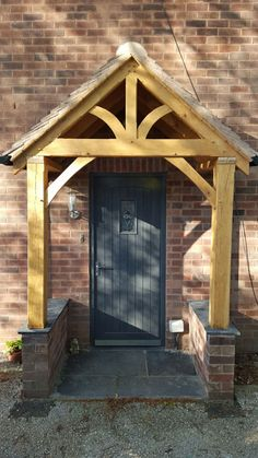 Beautiful handmade Oak porches available in two pre-set sizes, 2100mm or 2400mm high. Made from quality FSC Certified European oak, barn stored for at least 12 months, the porch is supplied ready to be oiled. Oil, stones and roof boards are available separately. This design is also available in Redwood specifically designed for painting. Delivery time and cost The current lead time on this porch is around 1 week. Delivery charge is £70 Get free delivery on oil, staddle stones and boards...