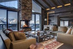 Discover the best luxury ski chalets in Verbier. Enjoy a luxury ski holiday in Verbier with our exclusive range of luxury chalets. Ski Lodge Living Room, Home, House Design, Chalet Interior, Interior, Luxury Living, Interior Design Styles, Luxury Retreats, House Interior