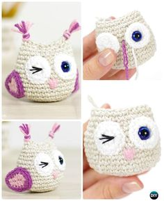 Crochet Amimigurumi Owl Free Pattern-Amigurumi #Crochet Owl Free Patterns