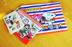 3 PCS Set Snoopy Cosmetic Bag Case Coin Purse Accessory Bag in One Set,it's convenient!
