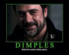 Dimples truely do make the world a better place. My husbands dimples are cuter than his though=) I Love Him, Love You, My Love, Cheap Shot, John Winchester, Jeffrey Dean Morgan, Stuff And Thangs, Hot Actors, Daryl Dixon