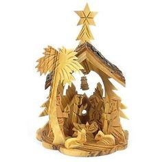 Olive Wood Medium Nativity with Bell in Back Handmade and Fair Trade This traditional olive wood nativity is handmade in Bethlehem. With fixed figures, this piece is 6 inches tall by 4 inches wide and inches deep. Christmas Store, Christmas Crafts For Kids, Handmade Christmas, Holiday Crafts, Christmas Ideas, Holiday Decor, Nativity Church, The Nativity Story, Nativity Clipart