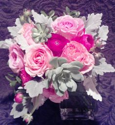 Bridal bouquet, made by bride's mother and sister.